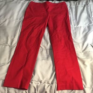 Red Kate pants by loft